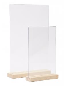 Тейбл-тент А5 (Менюхолдер А5 с деревянной ножкой) ТТ-03Д